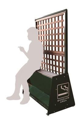 導入しやすい!喫煙所専用レストベンチ