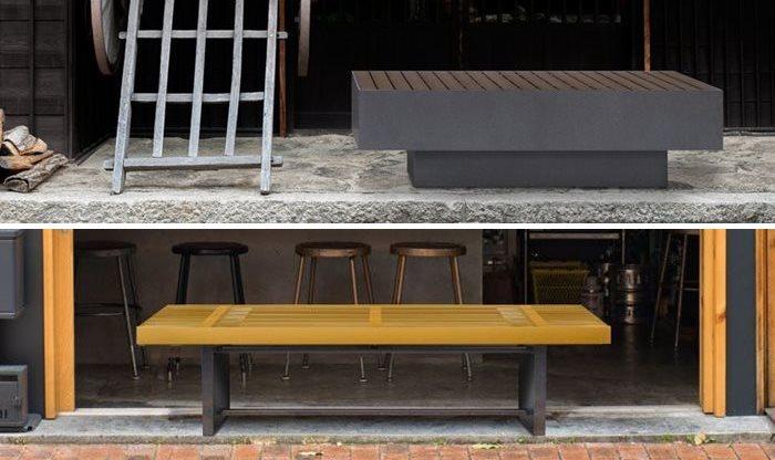和風ベンチ登場 茶屋のベンチ/格子のベンチ